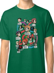 Scott Pilgrim relationship map Classic T-Shirt