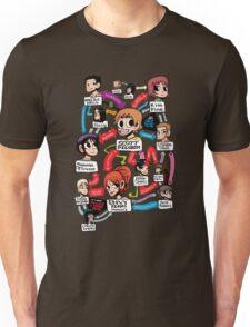 Scott Pilgrim relationship map Unisex T-Shirt