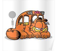 GARFIELD CAT BUS Poster