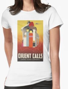 Orient Calls Vintage Travel Poster Womens Fitted T-Shirt