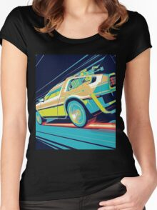 DeLorean- Back to the Future Women's Fitted Scoop T-Shirt