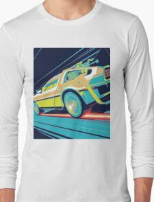 DeLorean- Back to the Future Long Sleeve T-Shirt