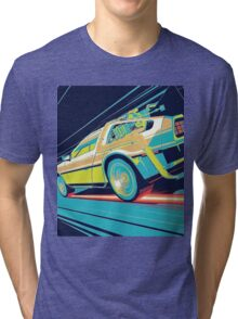 DeLorean- Back to the Future Tri-blend T-Shirt