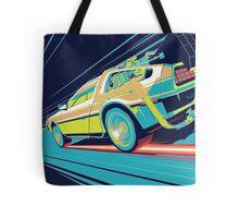 DeLorean- Back to the Future Tote Bag