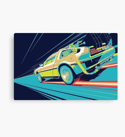 DeLorean- Back to the Future Canvas Print
