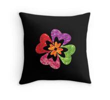Izzy's Rainbow Hibiscus Throw Pillow