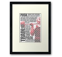 Train and Discipline Framed Print