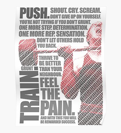 Train and Discipline Poster