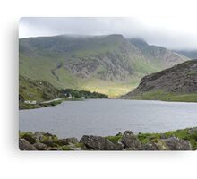 Sunlight on Welsh Mountains Canvas Print