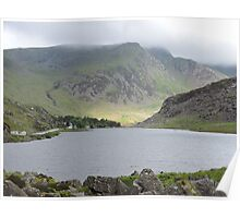 Sunlight on Welsh Mountains Poster