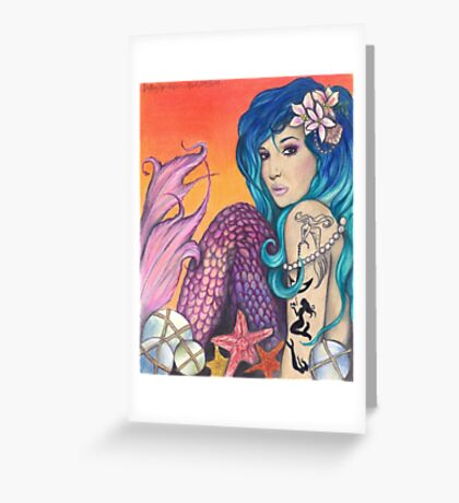Mermaid of the Carribean Greeting Card