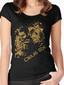 Deus ex 2 Women's Fitted Scoop T-Shirt