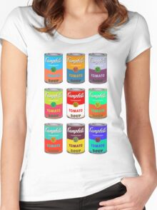 Andy Warhol Campbell's soup cans pop art Women's Fitted Scoop T-Shirt