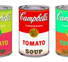 Andy Warhol Campbell's soup cans pop art Sticker