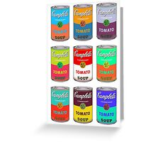 Andy Warhol Campbell's soup cans pop art Greeting Card