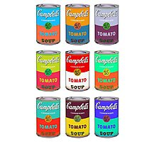 Andy Warhol Campbell's soup cans pop art Photographic Print