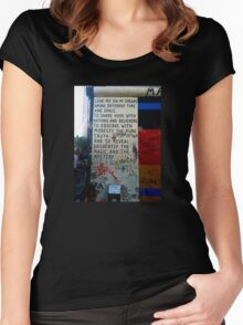 Berlin Wall - Magic & Mystery Women's Fitted Scoop T-Shirt