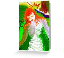 **Lonely  girl** Greeting Card