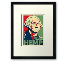 Hemp George Washington Framed Print
