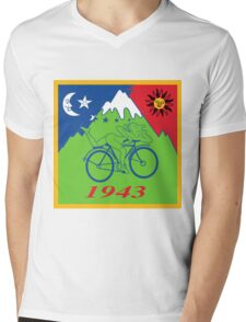 Hofmann's Bike Ride T-shirt Print Mens V-Neck T-Shirt
