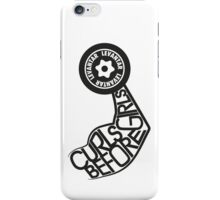 Curls Before Girls (Black) iPhone Case/Skin