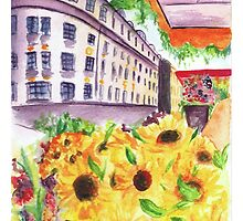 Flowers from Munich by littlebluerenn