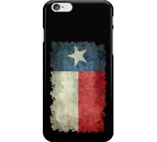 Flag of Texas in vintage retro style iPhone Case/Skin