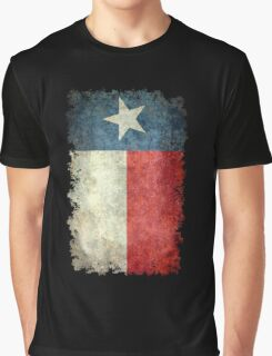 Flag of Texas in vintage retro style Graphic T-Shirt