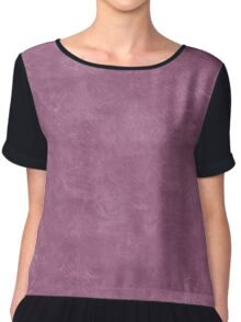 Grape Nectar Oil Pastel Color Accent Chiffon Top