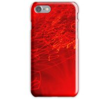 Red neon lights 5 iPhone Case/Skin