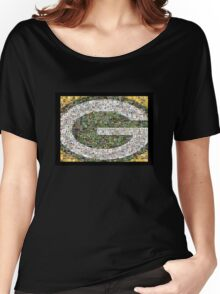 Green Bay Packers graphic art mosaic Women's Relaxed Fit T-Shirt