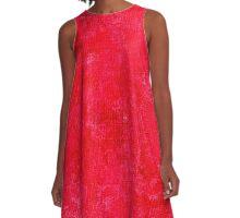 Lollipop Oil Painting Color Accent A-Line Dress