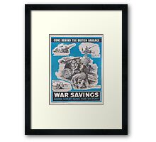 Reprint of British wartime poster. Framed Print