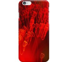 Red neon lights 7 iPhone Case/Skin
