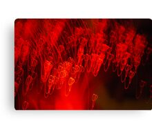 Red neon lights 7 Canvas Print