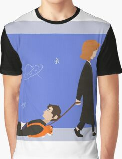 Dana Scully and Fox Mulder Graphic T-Shirt