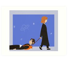Dana Scully and Fox Mulder Art Print