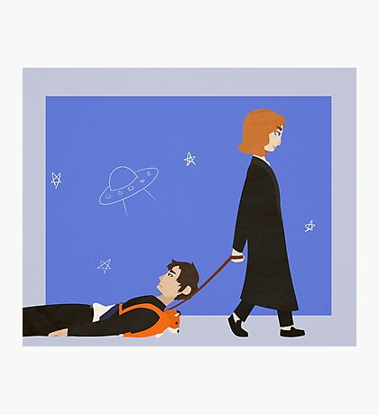 Dana Scully and Fox Mulder Photographic Print