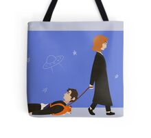 Dana Scully and Fox Mulder Tote Bag