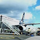 Landed at Norfolk Island by sandysartstudio