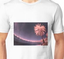 Pink Palm on the Swan Unisex T-Shirt