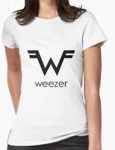 new weezer logo gatot Womens Fitted T-Shirt