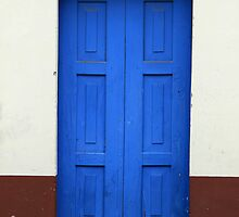 Blue Wooden Door in a Building by rhamm
