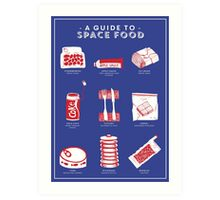 A Guide to Space Food Art Print