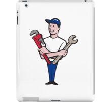 Handyman Spanner Monkey Wrench Cartoon iPad Case/Skin