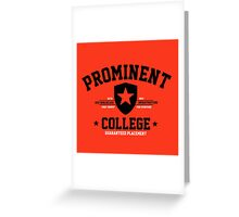 Prominent College T-shirt Greeting Card