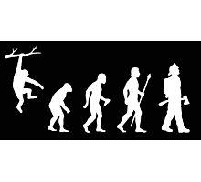Firefighter Funny Evolution Photographic Print