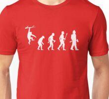 Firefighter Funny Evolution Unisex T-Shirt