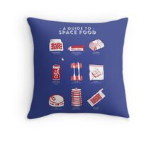 A Guide to Space Food Throw Pillow