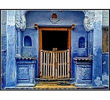 Blue Doorway in Bundi Photographic Print
